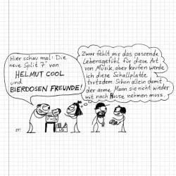 """Bierdosen Freunde / Helmut Cool - Egon forever Split EP  (7"""")"""