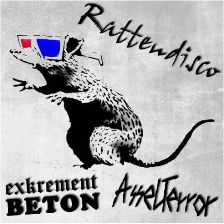 Exkrement Beton / Asselterror - Rattendisco  (LP+CD)
