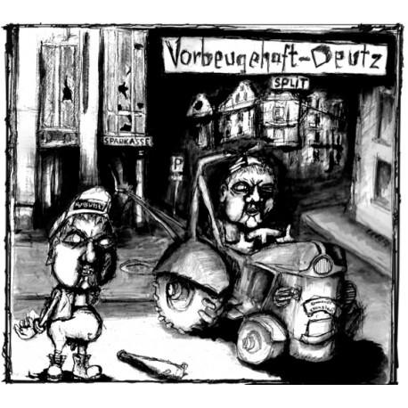 Deutz / Vorbeugehaft - Split (LP)   (rotes Vinyl)